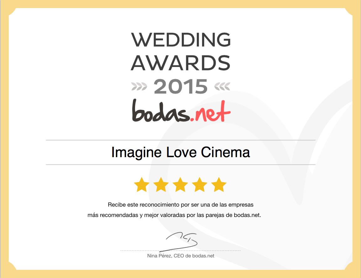 Imagine Love Cinema  - fotografos de boda - video de boda - premio bodasnet